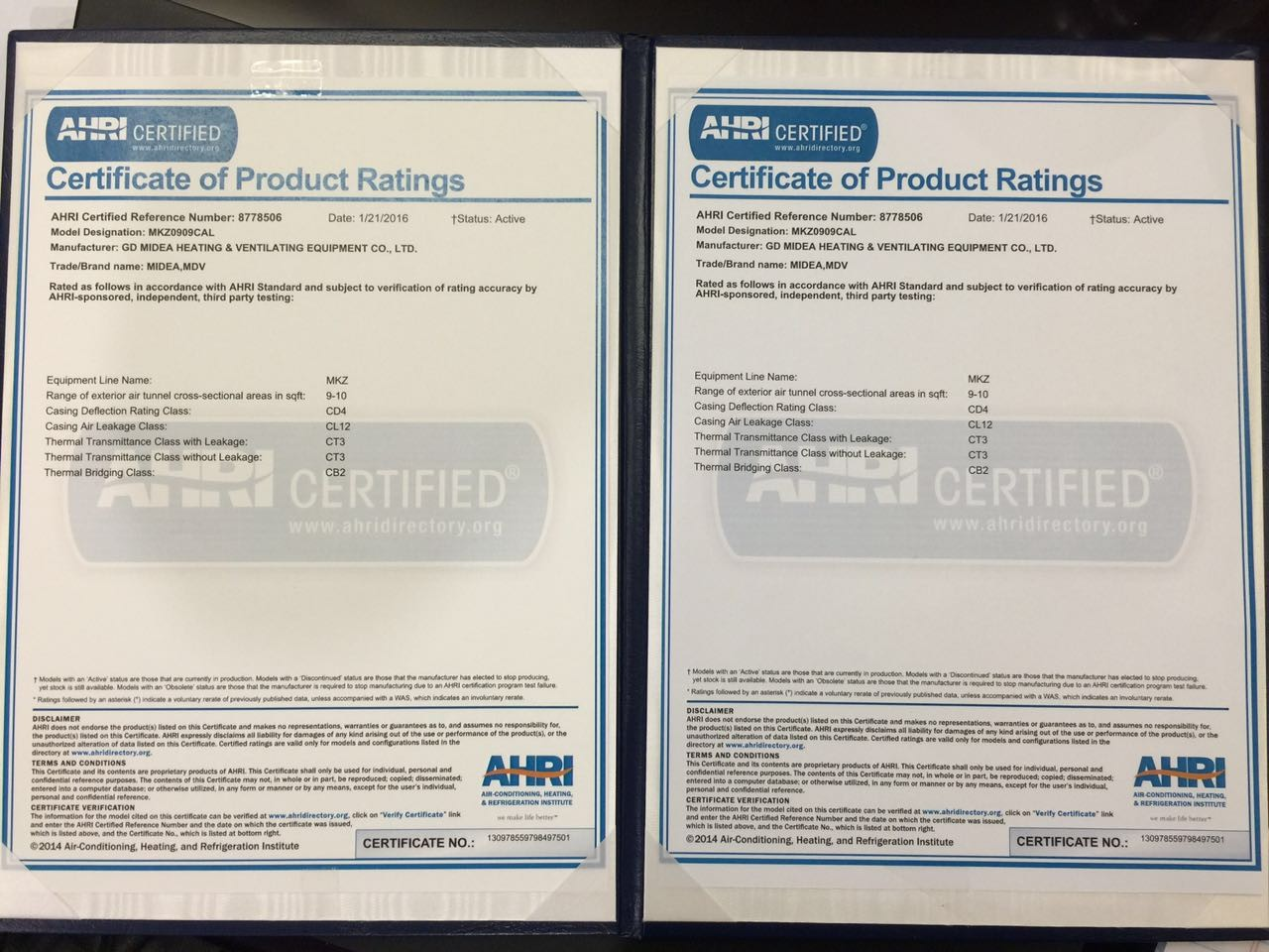 2016 ahri product performance certification has become a renowned brand for its integrity and purpose of customer service in north america and even xflitez Choice Image